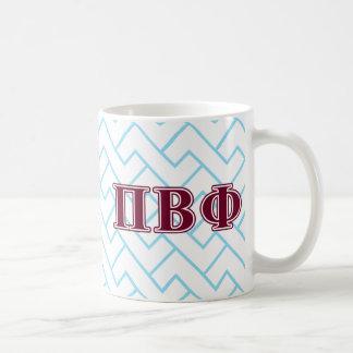 Letras beta del marrón de la phi del pi taza básica blanca