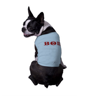 Letras beta del rojo de la theta pi playera sin mangas para perro