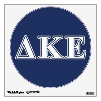 Letras blancas de Kappa del delta y azules