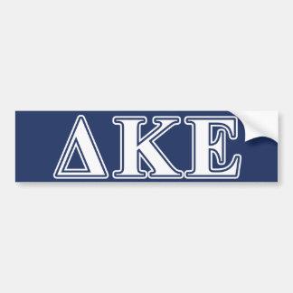 Letras blancas de Kappa del delta y azules Etiqueta De Parachoque