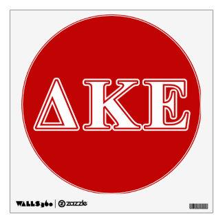 Letras blancas de Kappa del delta y rojas