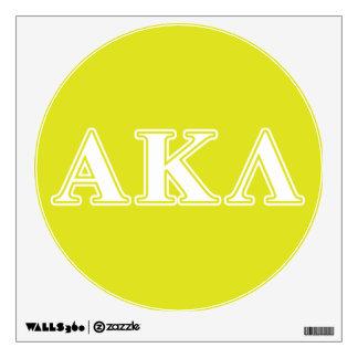 Letras blancas y amarillas de la lambda alfa de