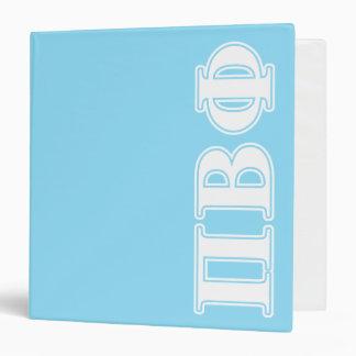 Letras blancas y azules de la phi beta del pi