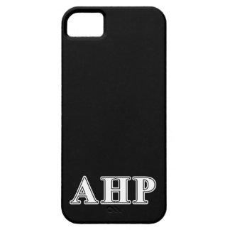 Letras blancas y negras de rho alfa de Eta iPhone 5 Case-Mate Funda