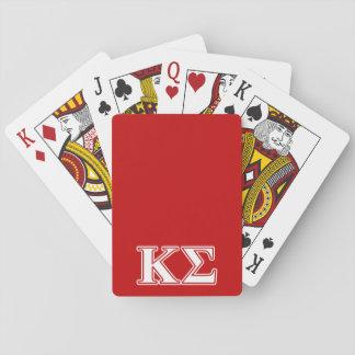 Letras blancas y rojas de la sigma de Kappa Cartas De Juego
