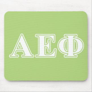 Letras blancas y verdes de la phi épsilon alfa tapetes de ratón