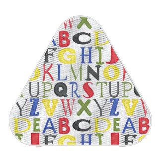 Letras brillantemente coloreadas de Megan Meagher Altavoz Bluetooth