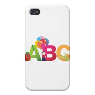 LETRAS DE ABC iPhone 4/4S FUNDAS