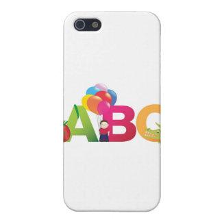 LETRAS DE ABC iPhone 5 CARCASAS