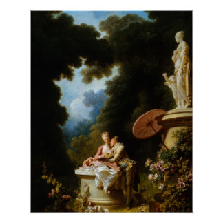 Letras de amor de Jean Honore Fragonard Póster