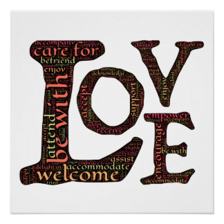 Letras de amor: Expresiones del amor incondicional Perfect Poster