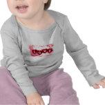 Letras de amor infantiles camisetas