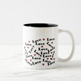 Letras de amor que hacen juego la taza de los sist