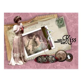 Letras de amor románticas del Victorian Postal