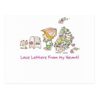 Letras de amor VDA-005 Postal