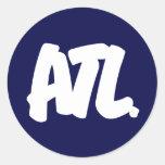 Letras de ATL Pegatinas Redondas
