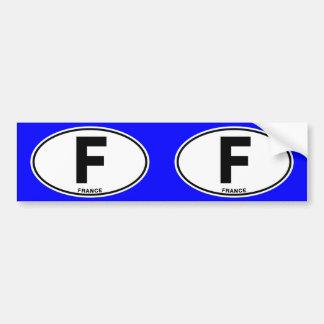 Letras de código internacionales ovales de la pegatina para auto