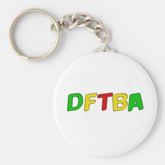 Letras de DFTBA Rasta Llavero Redondo Tipo Pin