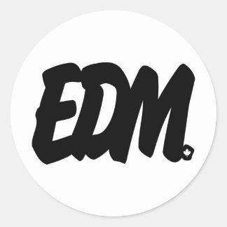 Letras de EDM Pegatina Redonda