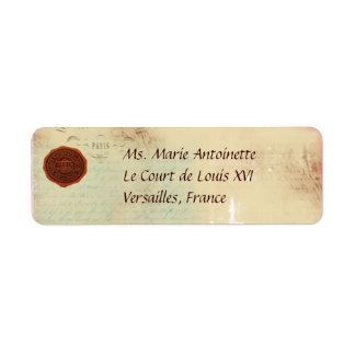 Letras de etiquetas de dirección personales de
