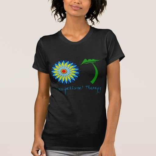 Letras de florecimiento de OT Camiseta