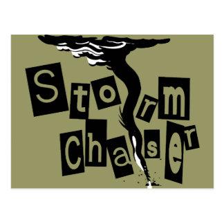 Letras de la caja del cazador de la tormenta tarjeta postal