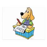 Letras de la escritura del perro de la tierra tarjeta postal