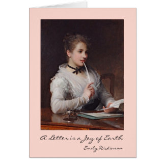 Letras de la escritura tarjeta de felicitación