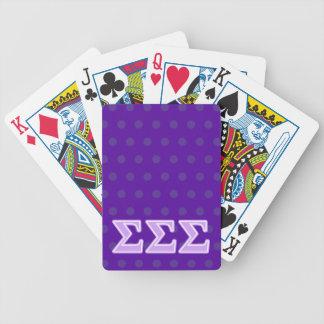 Letras de la lavanda de la sigma de la sigma de la cartas de juego