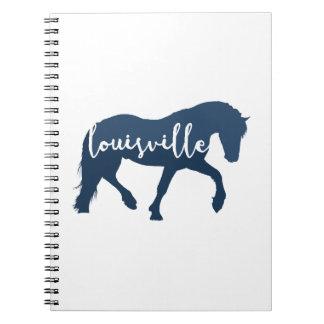 Letras de la mano del caballo de Louisville Libreta