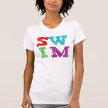 Letras de la NADADA Camisetas