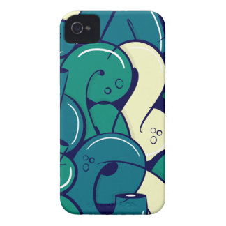 Letras de la pintada - verde iPhone 4 Case-Mate fundas