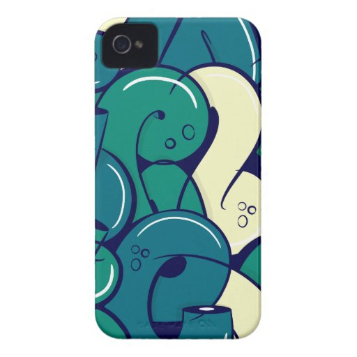 Letras de la pintada - verde Case-Mate iPhone 4 carcasas