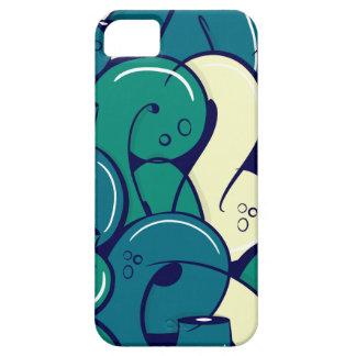 Letras de la pintada - verde iPhone 5 carcasa