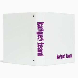 Letras de la púrpura de la carpeta del equipo de K