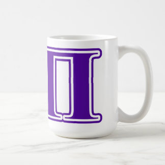 Letras de la púrpura de la sigma pi taza de café