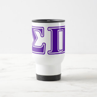 Letras de la púrpura de la sigma pi taza de viaje