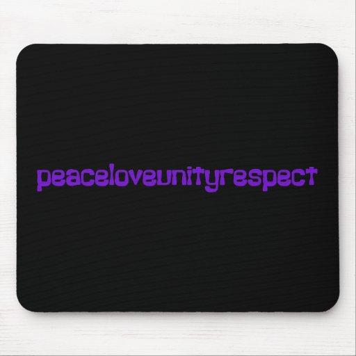Letras de la púrpura del delirio del respecto de l mouse pad