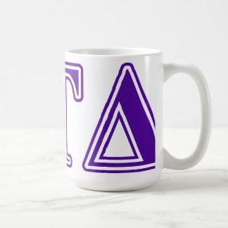 Letras de la púrpura del delta del Tau del delta Taza De Café