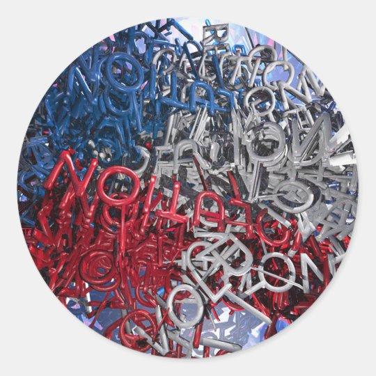 Letras de la revolución pegatina redonda