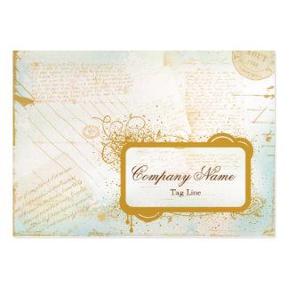 Letras de la tarjeta de visita de París