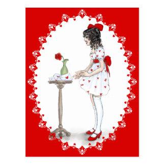 Letras de la tarjeta del día de San Valentín Tarjetas Postales