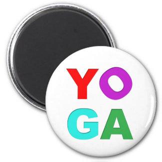 Letras de la yoga imán de nevera