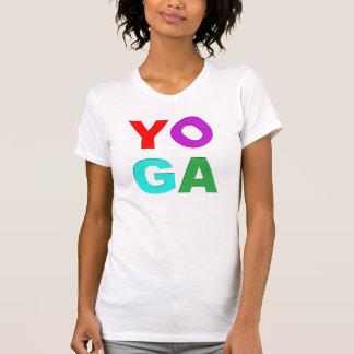 Letras de la yoga camiseta