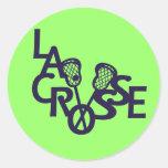 Letras de LaCrosse Pegatina Redonda