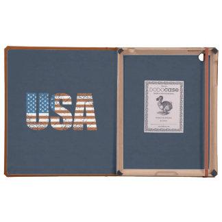 Letras de los E.E.U.U. del vintage con la bandera