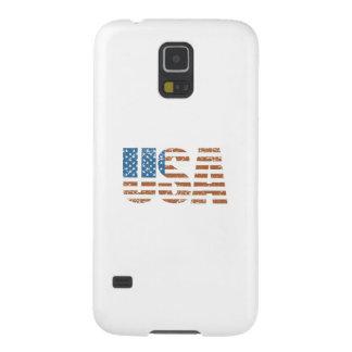 Letras de los E.E.U.U. del vintage con la bandera Carcasa Para Galaxy S5