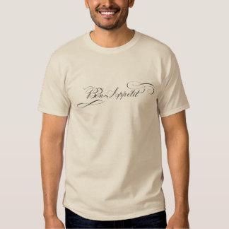 Letras de lujo de Appetit del Bon para el cocinero Camisas