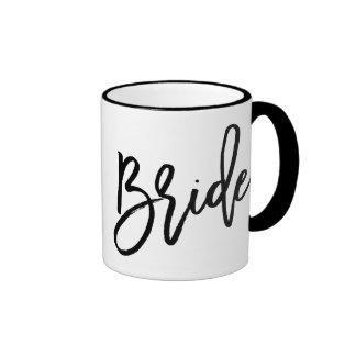 Letras de moda de la novia taza de dos colores
