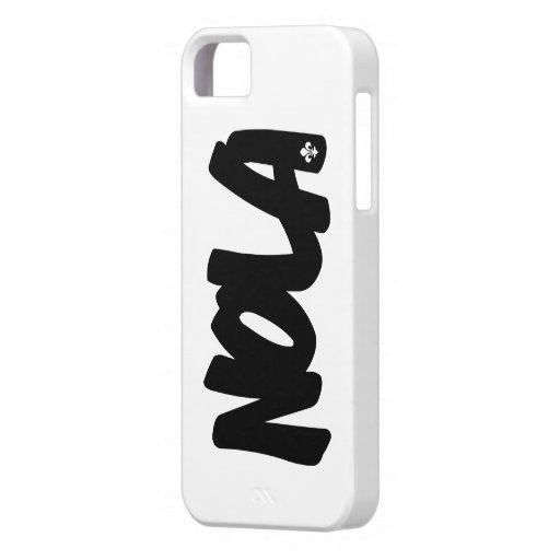 Letras de NOLA iPhone 5 Case-Mate Funda